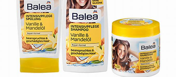 Neues Design für Balea Haarpflege