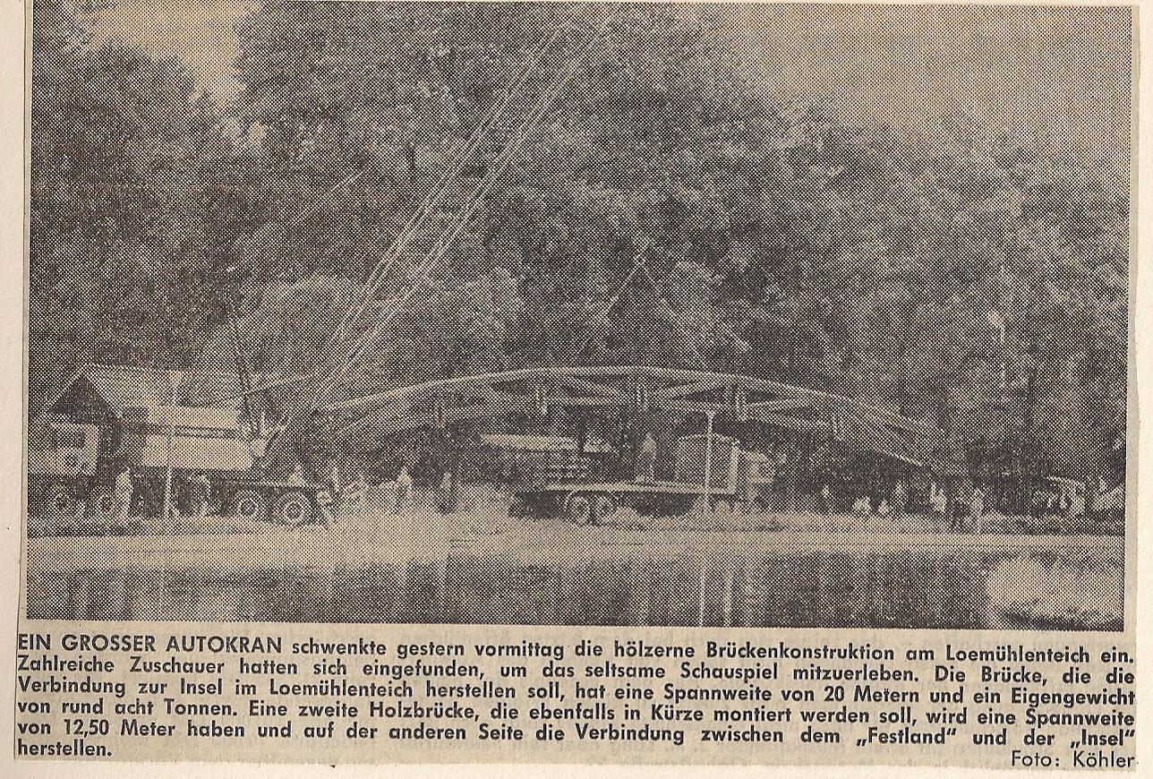 Bau Brücke Loemühle Zeitung 1