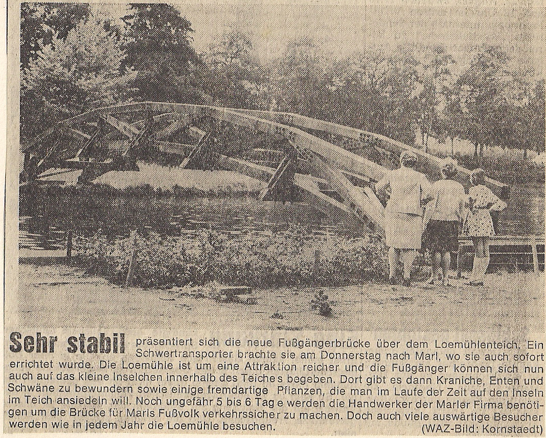 Bau Brücke Loemühle Zeitung
