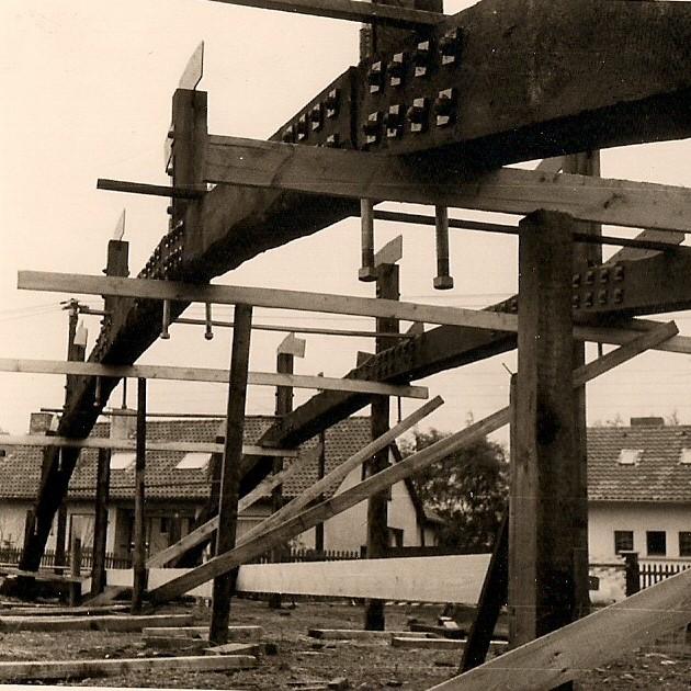 Bau Brücke Loemühle